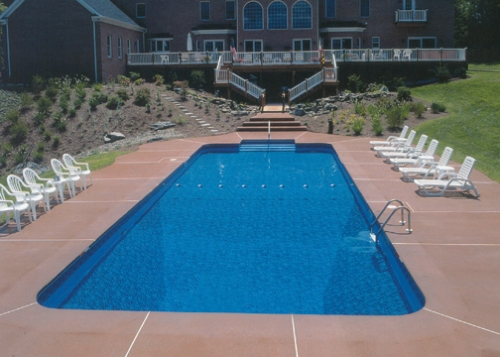 Rectangle Pool eagle pool and spa, inc. - pennsylvania - vinyl liner in ground